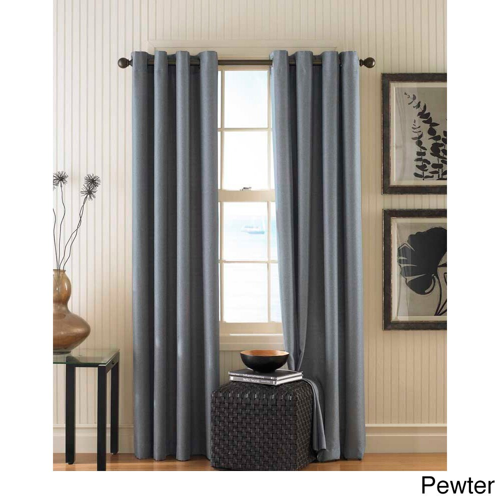 CHF Monterey Textured Lined Grommet Curtain Panel (Pewter...