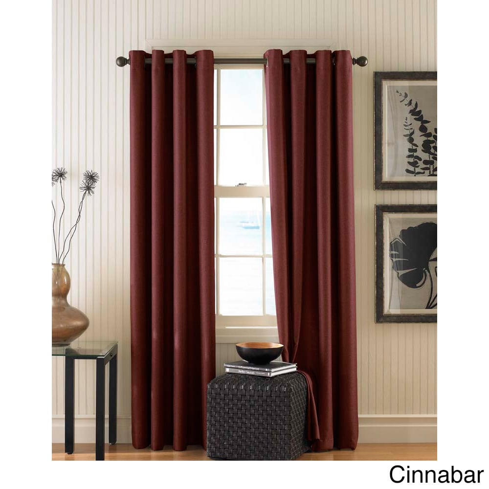 CHF Monterey Textured Lined Grommet Curtain Panel (Cinnab...