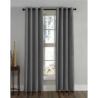 Length 144 Inches Lenox Crushed Textured Room Darkening Grommet Panel