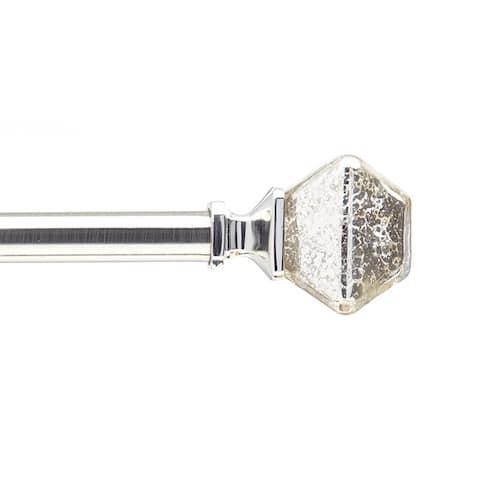 Mercury Glass Adjustable Decorative Curtain Rod