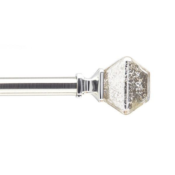 Mercury Glass Adjustable Decorative Curtain Rod - 0.75 inches Diameter ...