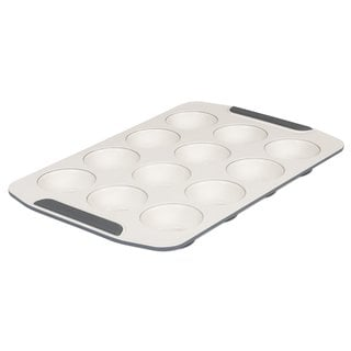 Viking 12 Cup Ceramic Coated Non-Stick Muffin Pan Cream/ Grey