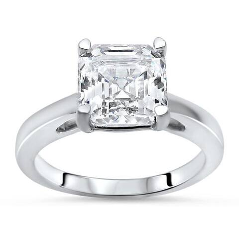 14k White Gold 1 5/8ct TGW Asscher-cut Moissanite Solitaire Engagement Ring