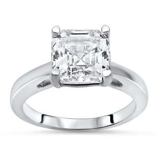Noori 14k White Gold 1 5/8ct TGW Asscher-cut Moissanite Solitaire Engagement Ring