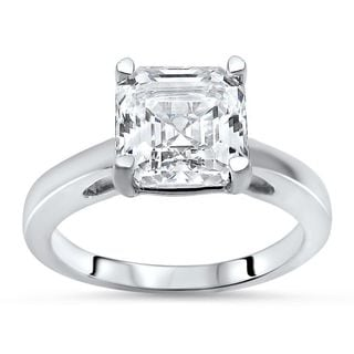 Noori 14k White Gold 1 5/8ct TGW Asscher-cut Moissanite Solitaire Engagement Ring