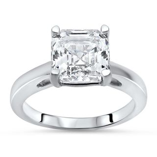 Noori 14k White Gold 1 5/8ct TGW Asscher-cut Moissanite Solitaire Engagement Ring (More options available)