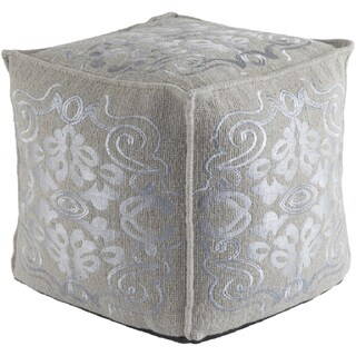 Floral Amber Square 18 inch Accent Pouf