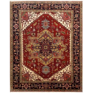 Herat Oriental Indo Hand-knotted Serapi Wool Rug (8'1 x 10'5)