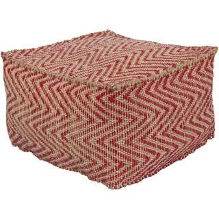 Chevron Alton Square Accent Pouf (20 x 20 x 12)