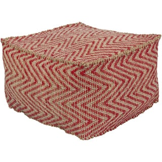 Chevron Alton Square Accent Pouf (20 x 20 x 12)