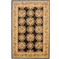 Handmade Herat Oriental Indo Tabriz Wool and Silk Rug (India) - 5'9 x 8'9