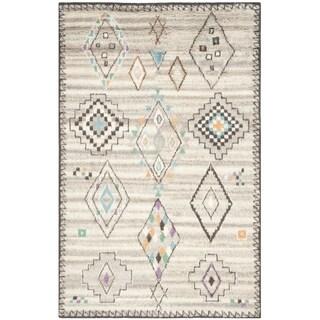 Safavieh Handmade Kenya Natural/ Multi Wool Rug (6' x 9')