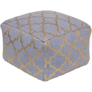 Moroccan Trellis Alexa Square Cotton Pouf (20 x 20 x 12)
