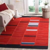 Safavieh Hand-Woven Kilim Red Wool Rug - 5' x 8'
