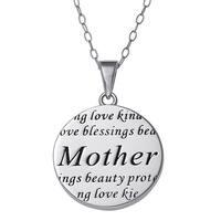 Sterling Silver Mother Sentiment Pendant
