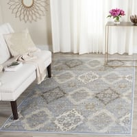 "Safavieh Vintage Light Blue/ Ivory Distressed Rug - 5'1"" x 7'7"""