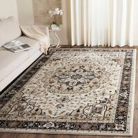 Safavieh Lyndhurst Traditional Oriental Cream/ Navy Rug - 5' 3 x 7' 6