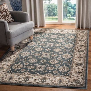 Safavieh Lyndhurst Traditional Oriental Teal/ Cream Rug (5' 3 x 7' 6)