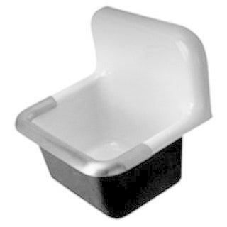 Zurn (k) CI Service Sink with 8-inch Center (24 x 20)