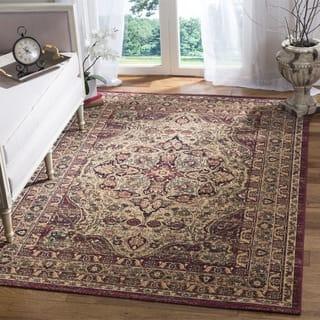 Safavieh Lavar Kerman Cream/ Red Cotton Rug (5' 1 x 7' 6)|https://ak1.ostkcdn.com/images/products/11737133/P18655182.jpg?impolicy=medium