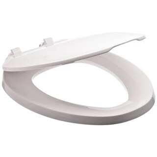 Zurn (k) Elongated White Closed-front Toilet Seat with Cover