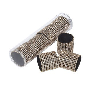 Gold Rhinestone Napkin Ring (Set of 4)