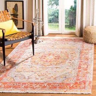 Safavieh Vintage Persian Saffron/ Cream Distressed Rug (5' x 7' 6)