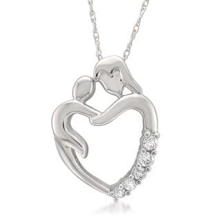 Montebello Jewelry 14k White Gold Diamond Pendant Necklace