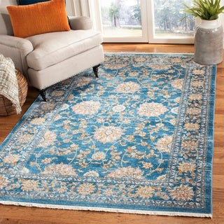 Safavieh Vintage Persian Turquoise/ Multi Distressed Silky Polyester Rug (5' x 7' 6)