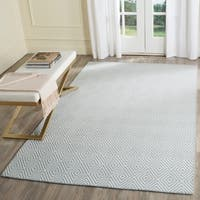 Safavieh Hand-Hooked Wilton Light Blue/ Ivory Wool Rug - 5' x 8'
