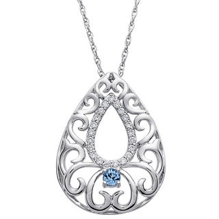 Sterling Silver In Memory of You Birthstone Pendant