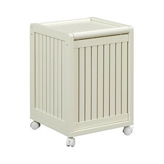 New Ridge Home Abingdon Linen Mobile Hamper with Lid