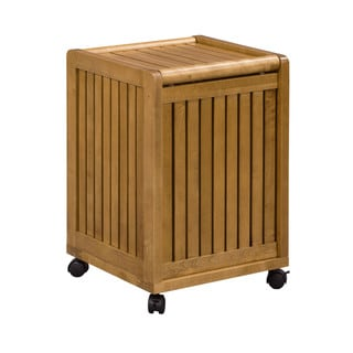 New Ridge Home Abingdon Cinnamon Mobile Hamper with Lid