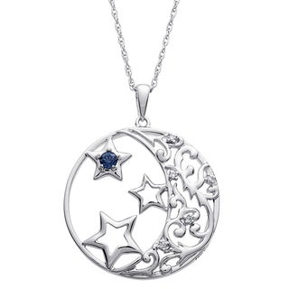 Sterling Silver Believe in Your Dreams Birthstone Pendant