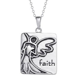Sterling Silver Women's Angel Faith Pendant