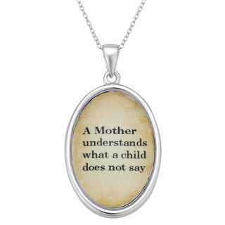 Sterling Silver Mom Understands Sentiment Pendant