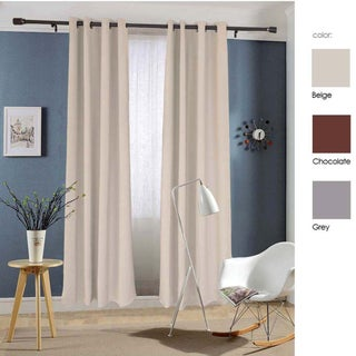 Dasein Thermal Insulated Grommet Microfiber Woven Blackout Curtain Panel Pair (2 options available)