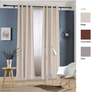Dasein Thermal Insulated Grommet Microfiber Woven Blackout Curtain Panel Pair
