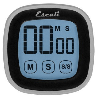Escali DR3-B Touch Screen Digital Timer and Stopwatch in Black