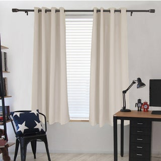 Dasein Window Treatment Thermal Insulated Grommet Microfiber Woven Blackout Curtain Panel Pair