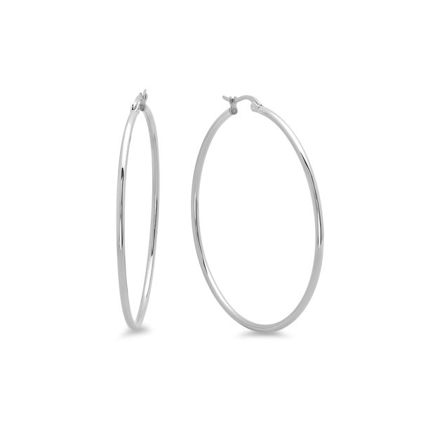 Piatella Ladies Stainless Steel Hoop Earrings. Opens flyout.