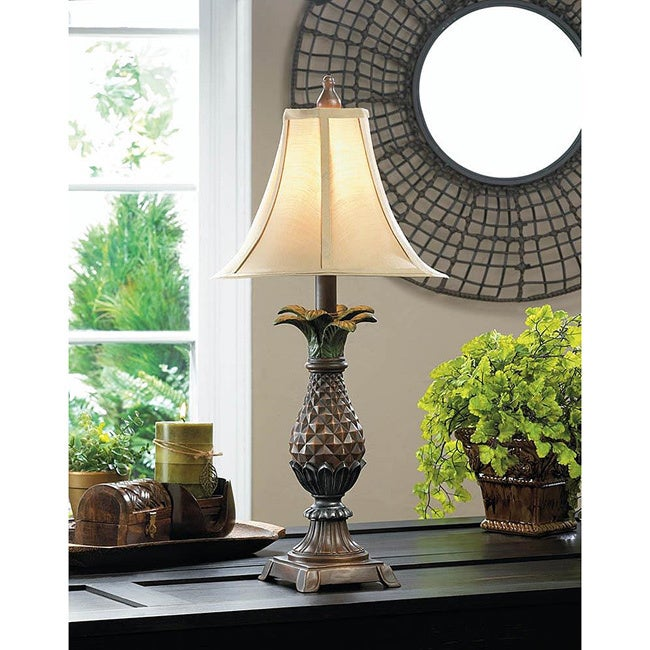 Decorative Leafy Pineapple Table Lamp (As Is Item) (Decor...