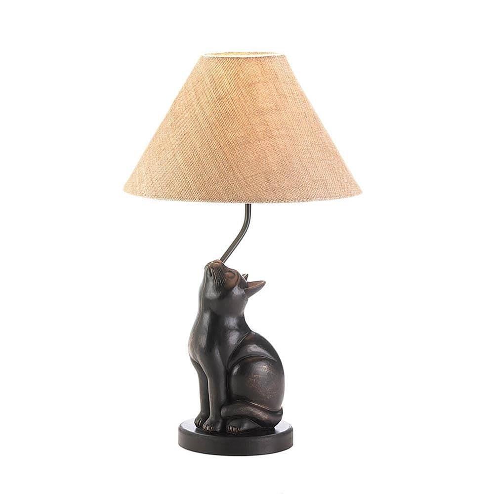 Charming Kitten Reading Lamp, Brown (Iron)
