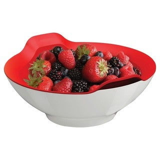 Prepara Market Red and White Colander and Bowl Set