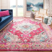 Safavieh Monaco Bohemian Medallion Pink/ Multicolored Distressed Rug - 5'1 x 7'7