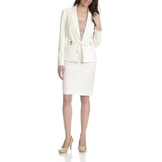 Tahari Arthur S. Levine Women's Belted 2-piece Skirt Suit