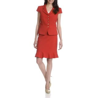 Tahari Arthur S. Levine Women's Red 2-piece Skirt Suit