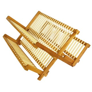 19 Inch All Natural Eco-Friendly Bamboo Dish Rack