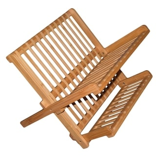 16 Inch All Natural Eco-Friendly Bamboo Dish Rack