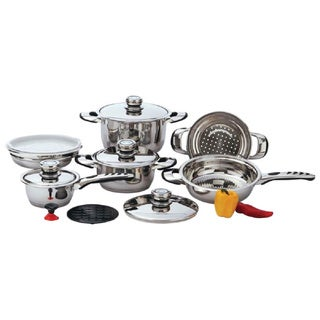 Chef's Secret 12 Piece 9-Ply Waterless Heavy-Gauge Stainless Steel Cookware